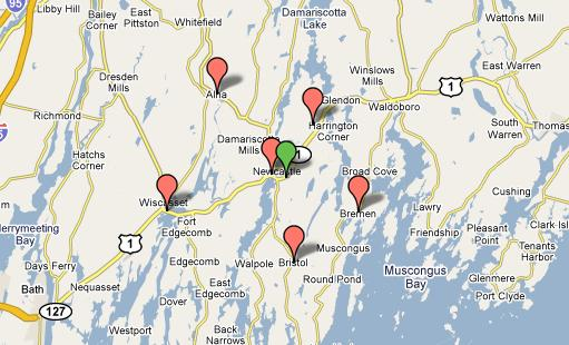 Damariscotta Map