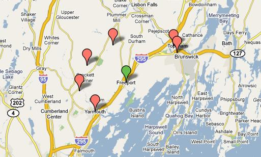 Freeport Maine Business Directory Yellow Page Addresses